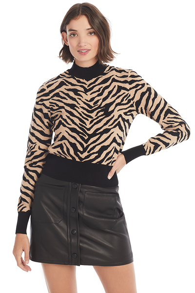 A.L.C zebra printed sweater milk boutique