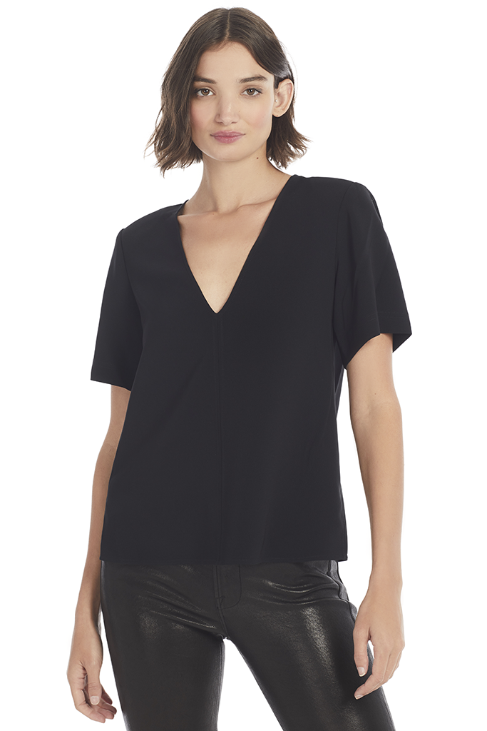 A.L.C. Warren Top (Black) - Women's Tops