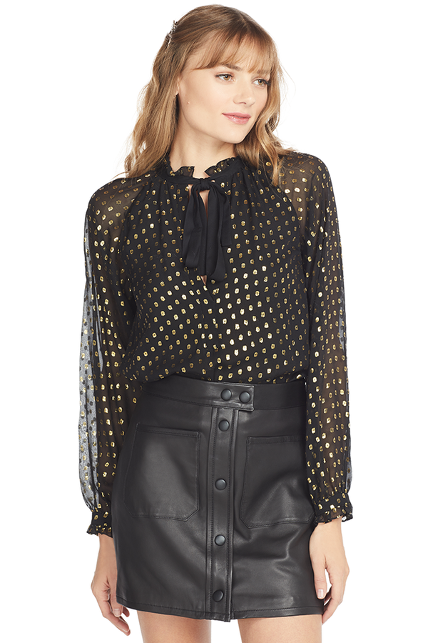 A.L.C. Winona Top (Black/Gold)