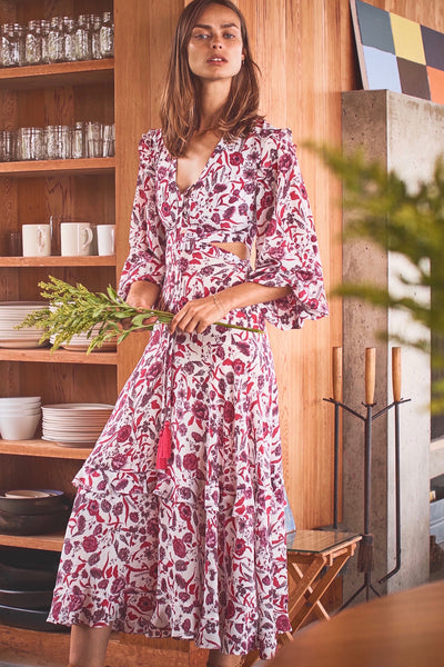 Nakkita Dress - Berry Floral