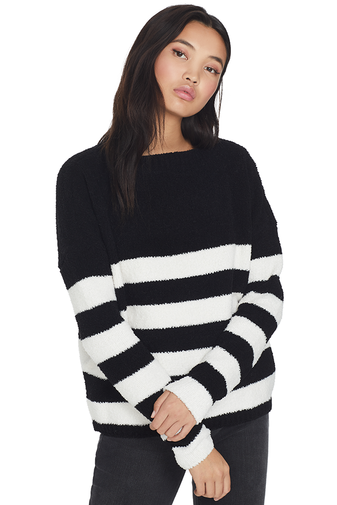 Chenille Boatneck Sweater
