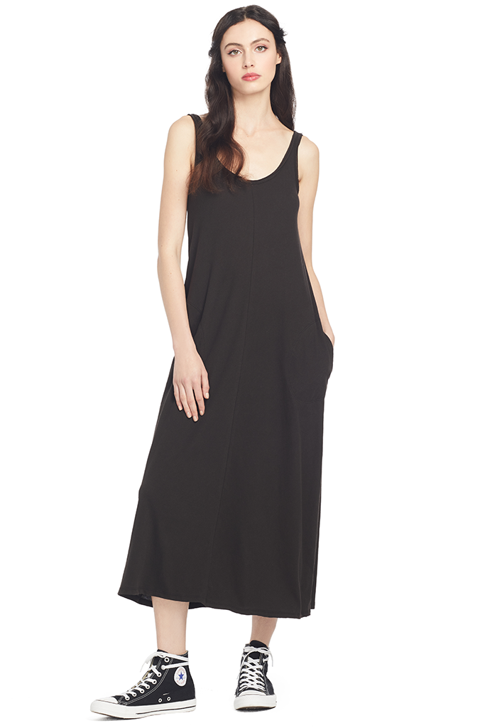ATM High Torsion Tank Dress (Black)