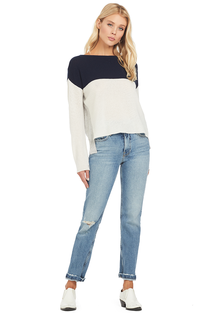 ATM Colorblock Cashmere Sweater