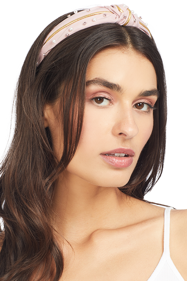 Tippi Jeweled Headband Rose Women's Headbands