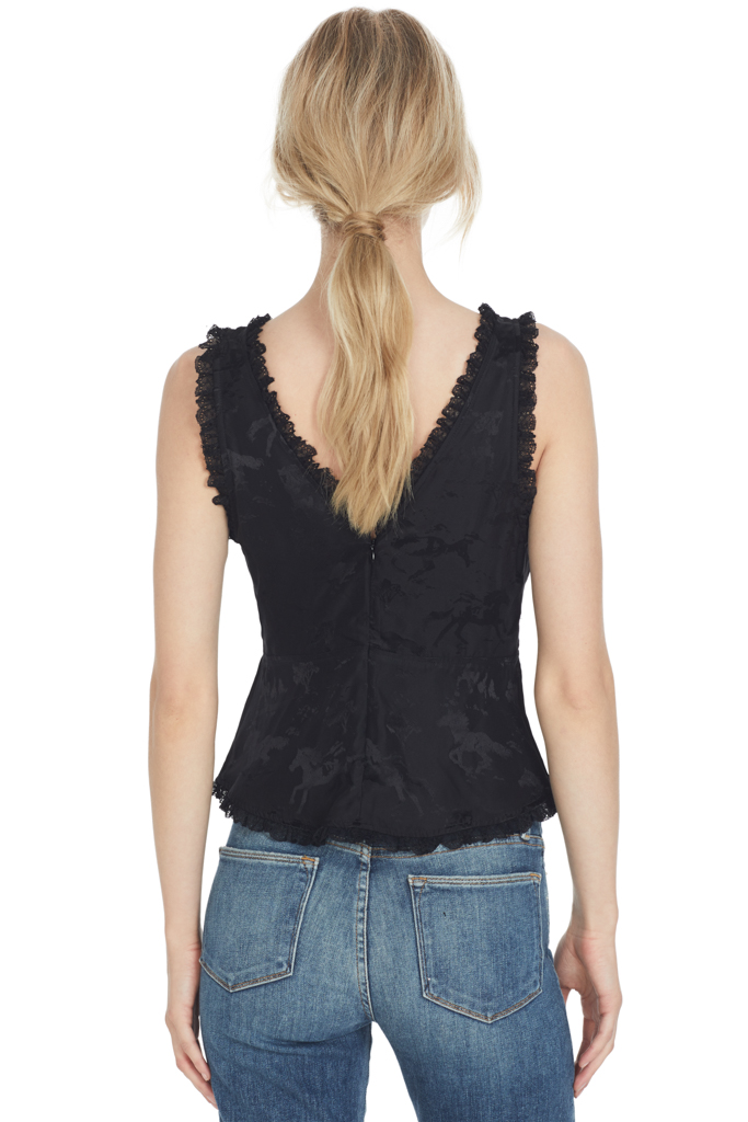 Ackerly Silk Top (Black)