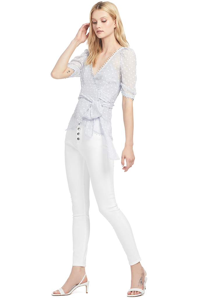 Alice McCall Moon Talking Wrap Blouse (Crystal)