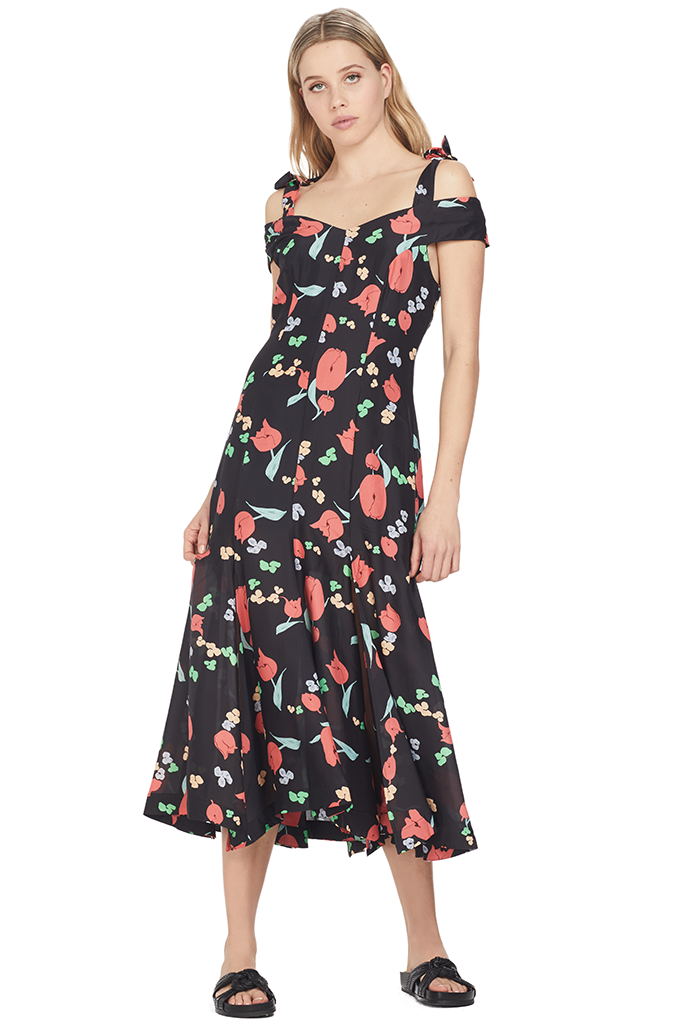 761a650bf511 Alice McCall One Kiss Dress Black and Red Floral