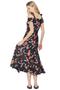 Alice McCall One Kiss Dress Black and Red Floral