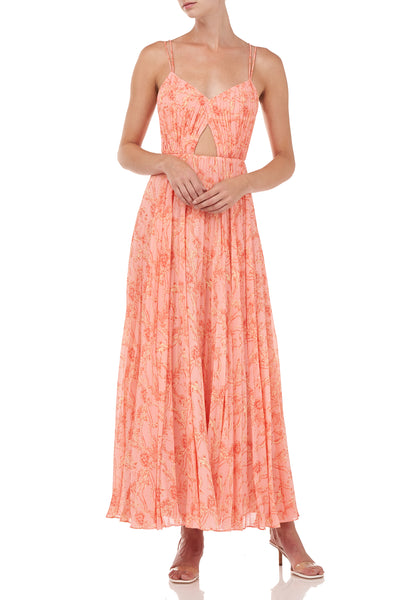 Lucy Dress - Peach Cream Block Paisley