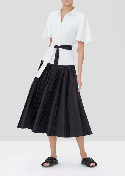 Bellanca Long Dress - White/Black