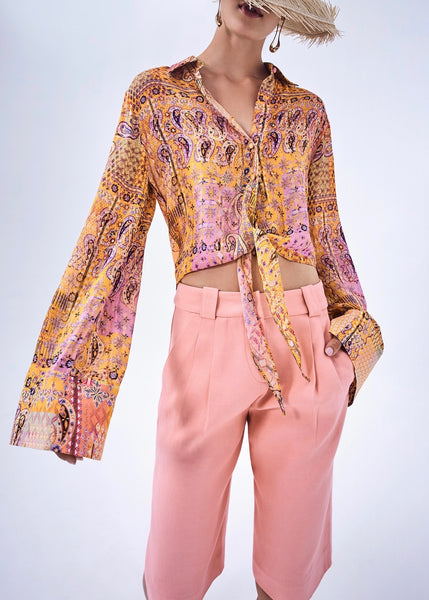 Clove Top - Sunset Paisley