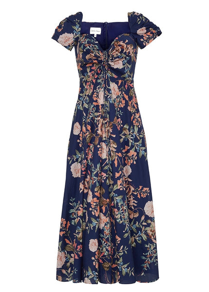 Bellport Dress - Navy Floral