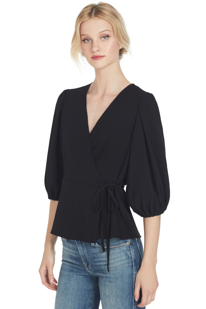 Ganni Clark Blouse (Wrap Top)