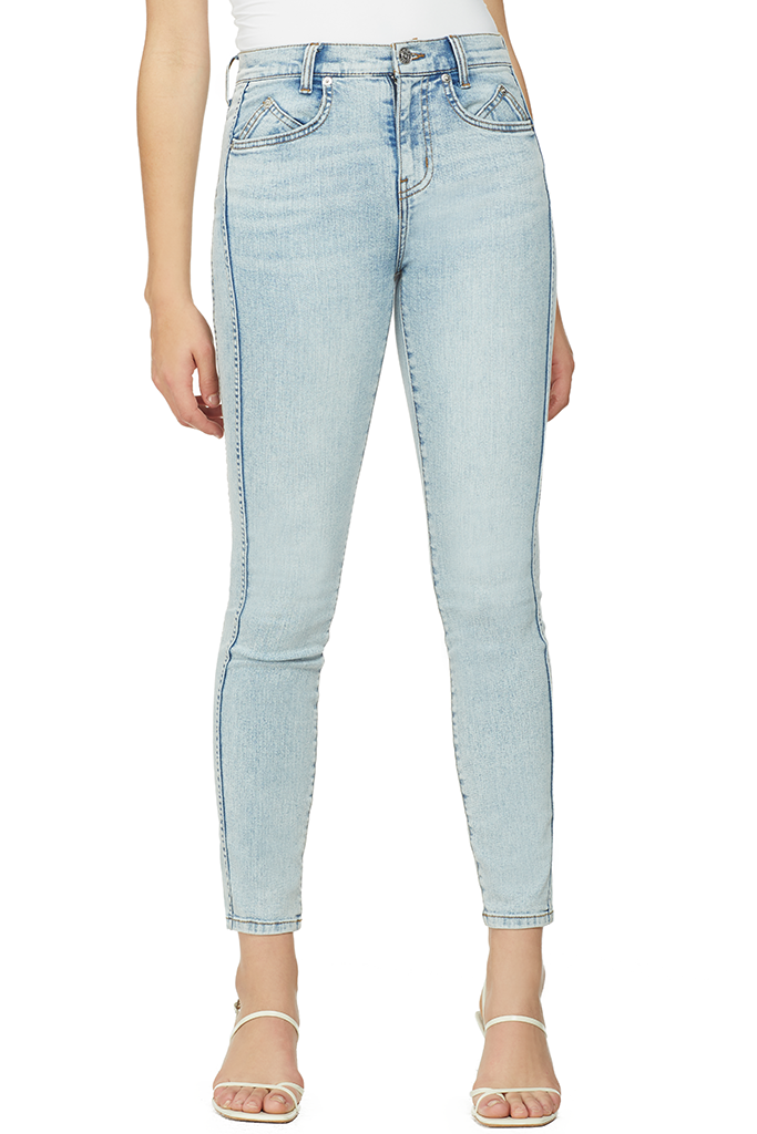 Current/Elliott The 7-Pocket High Waist Ankle Skinny Stiletto (Roller)