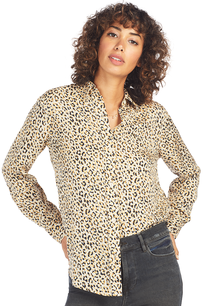 The Derby Shirt - Gold Leopard