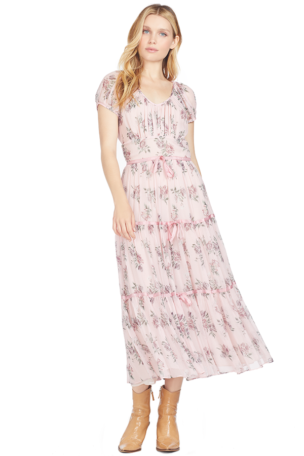 Loveshackfancy Audra Dress (Pink Canopy)