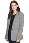 Derek Lam Single Button Blazer (Black & White