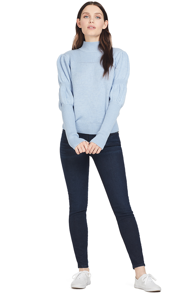 Derek Lam Puff Sleeve Sweater (Blue)