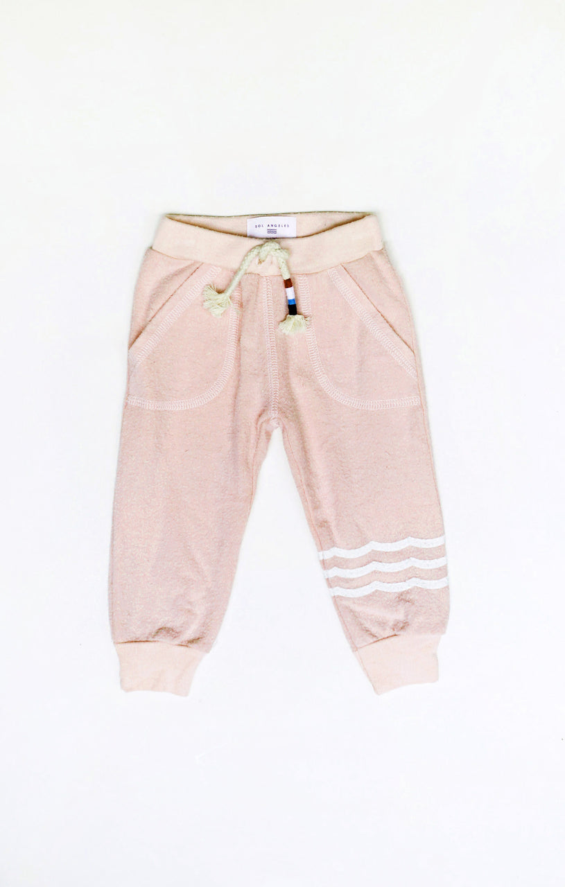 Baby Waves Hacci Jogger (Coral)