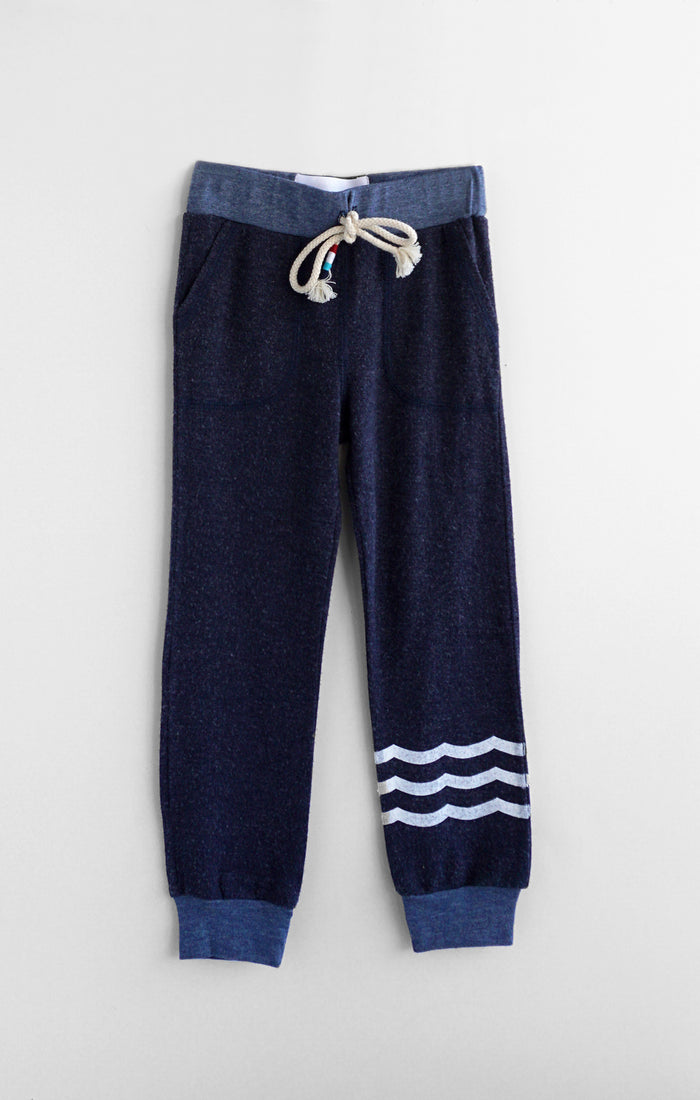 Kids Waves Hacci Jogger (Sapphire)
