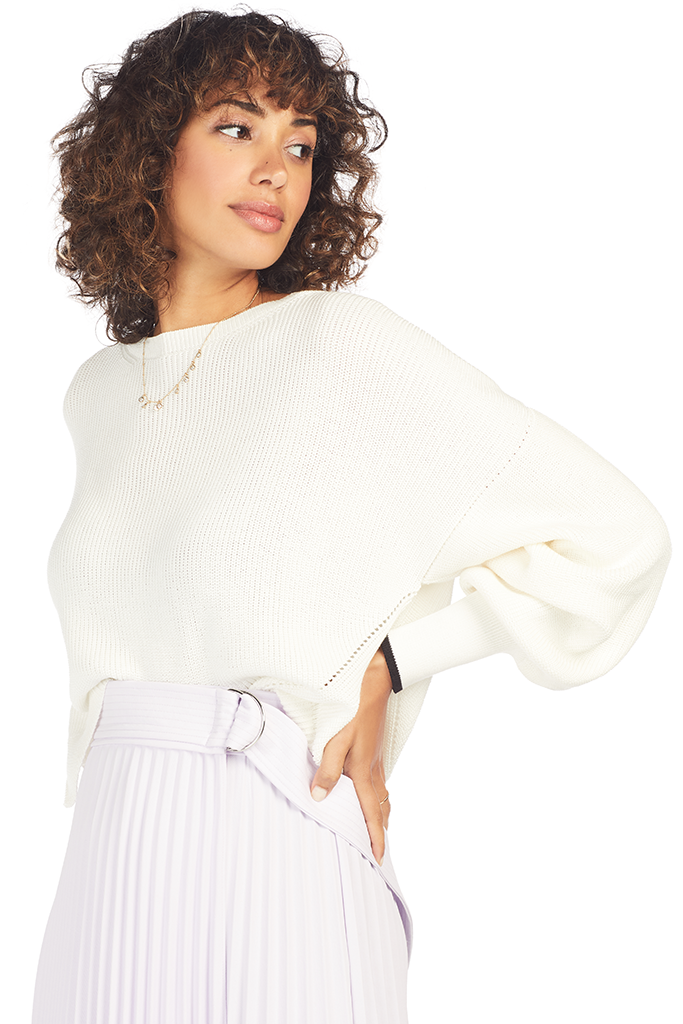 Layla Crew Sweater -  Snow