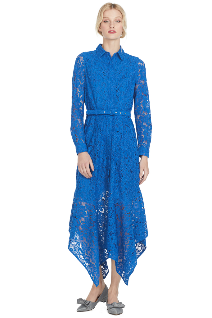 Ganni Everdale Lace Dress (Lapis Blue)