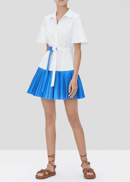 Felipa Mini Dress - White/Blue