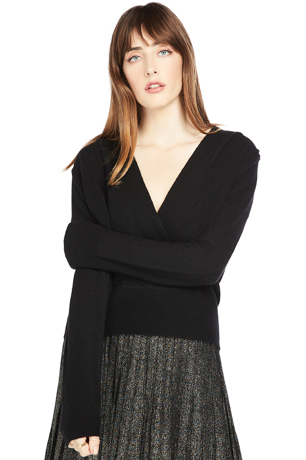 FRAME Criss Cross Eco Cashmere Sweater Black