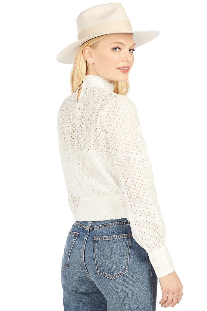 Eyelet Party Top - Off White