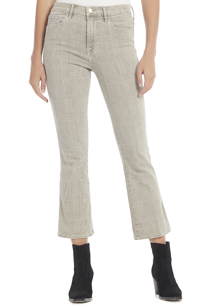 Frame Cropped Plaid pants Milk Boutique