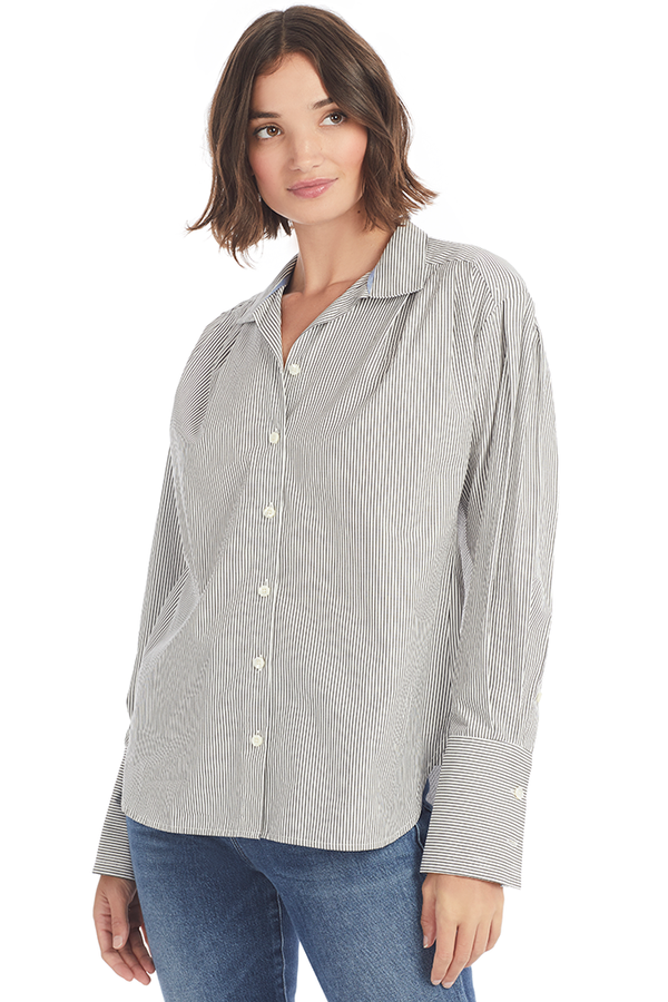 Pleated Clean Collar Shirt Shopatmilk.com