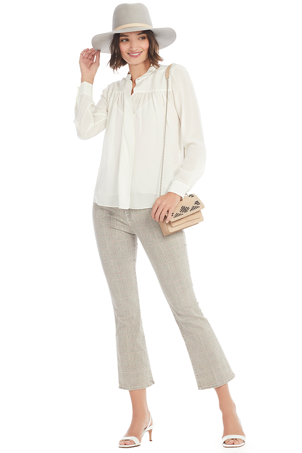 Frame Voluminous Silk Blouse Milk Boutique