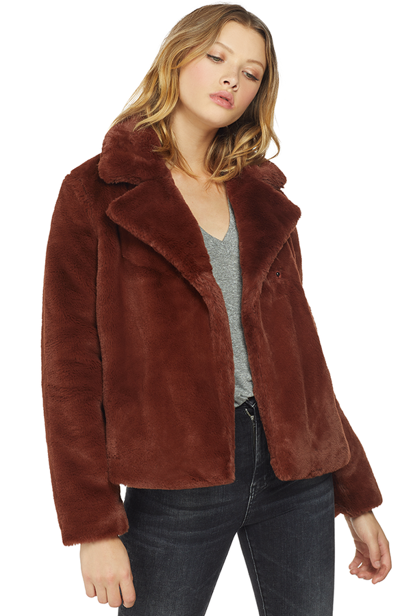 Frame Wide Collar Coat (Tawny)