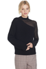 RtA Franny Turtleneck Contrast Swish Black