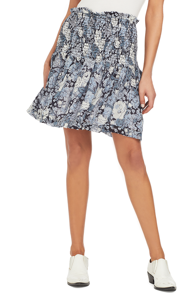Ganni Printed Georgette Skirt (Heather)