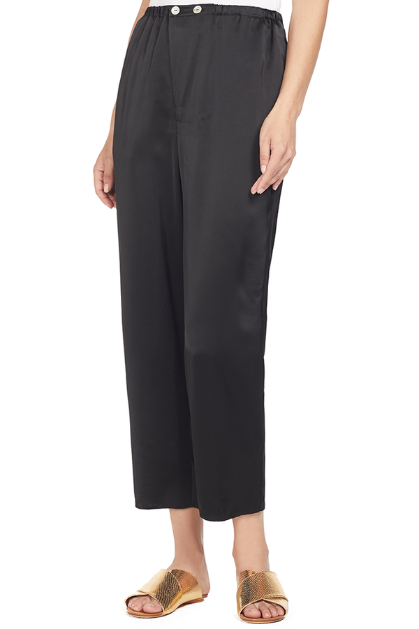 Shaded Satin Pants (Nero)