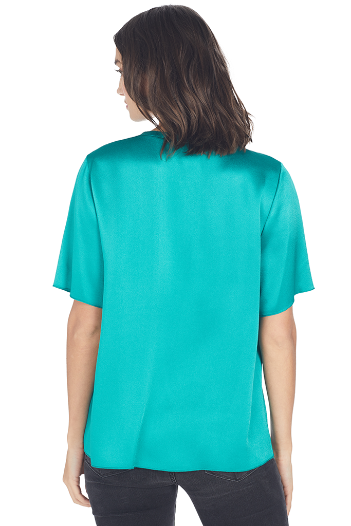 Viscose Satin Crepe T-shirt
