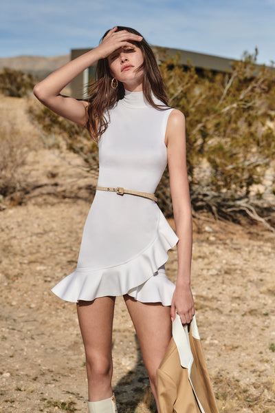 Giya Short Dress - White