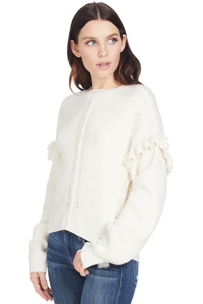 Knit Cashfeel Shoulder Detail Sweater