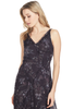 GREY Jason Wu Winter Floral Clip Jacquard Vneck Dress