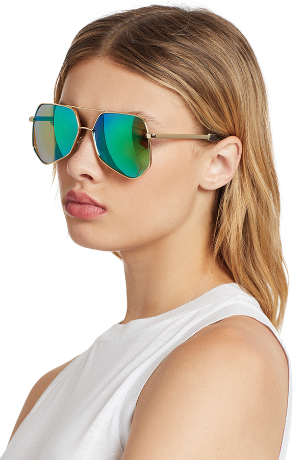 Megalast II Sunglasses (Gold/Green)