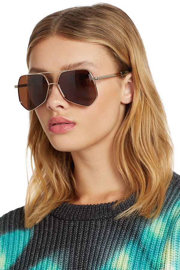 Megalast II Sunglasses (Light Gold/Brown)