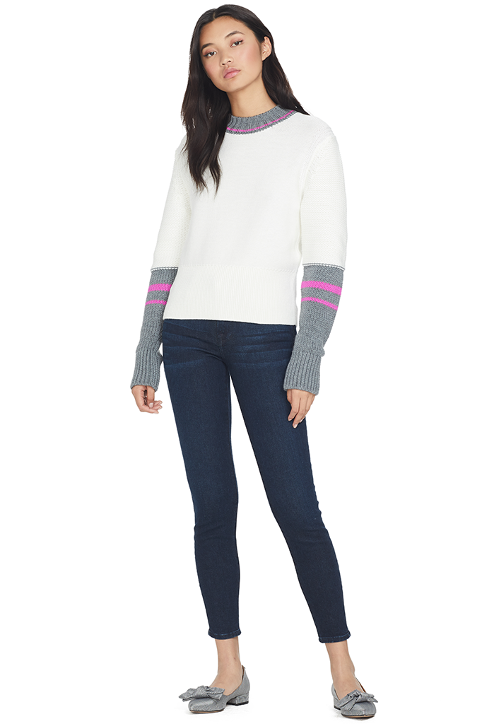 Colorblock Crew Neck Sweater (Multi)
