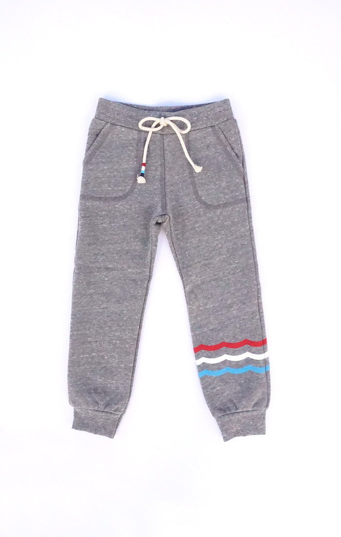 Heather Fit Jogger with Flags