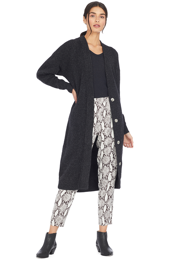IRO Ashland Long Button-Front Cardigan Sweater
