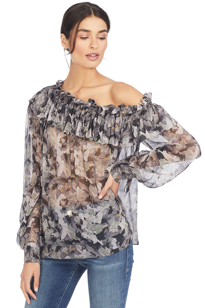 Iro Jolie Top Grey Print