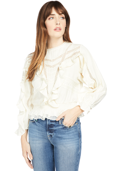 IRO Nea Top White Long Sleeve
