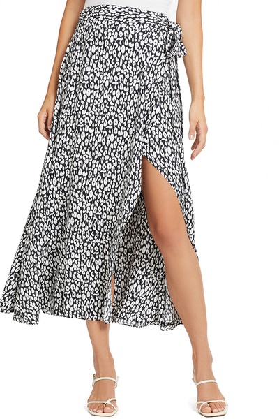 IRO Tanaka Skirt (Black/White Leopard)