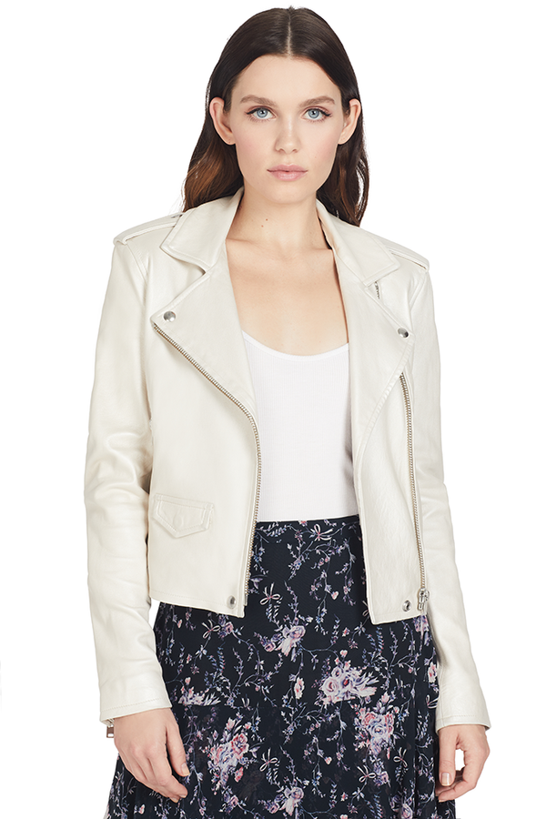 IRO Ashville Biker Jacket (Pearly White)