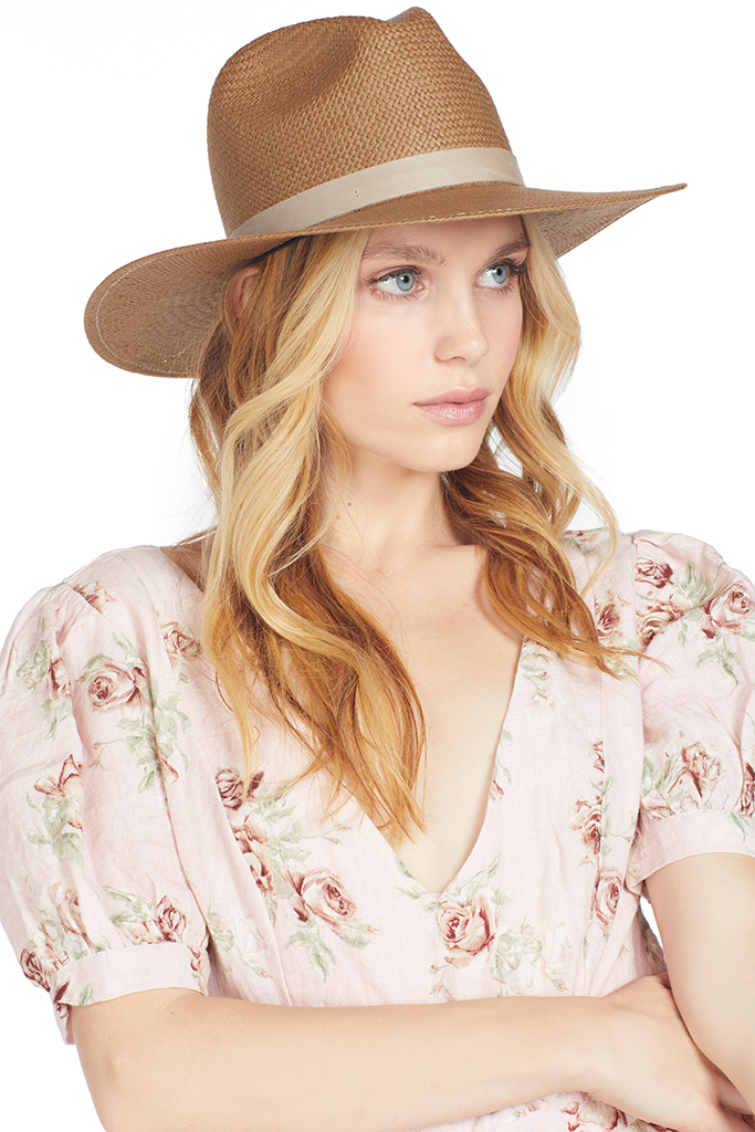 28bbc88738abfd Adriana Hat (Brown) | Janessa Leone | Shopatmilk.com – Milk Boutique